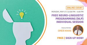 FREE Neuro-Linguistic Programming (NLP) Individual Session