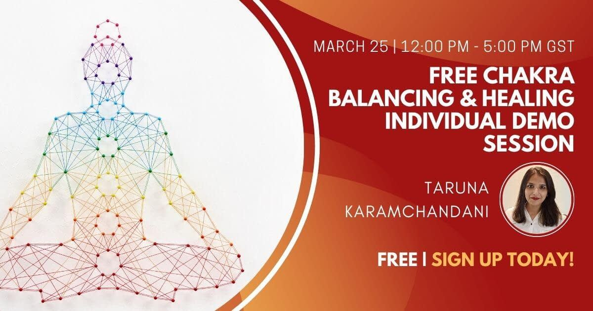 Free Chakra Balancing & Healing Individual Demo Session
