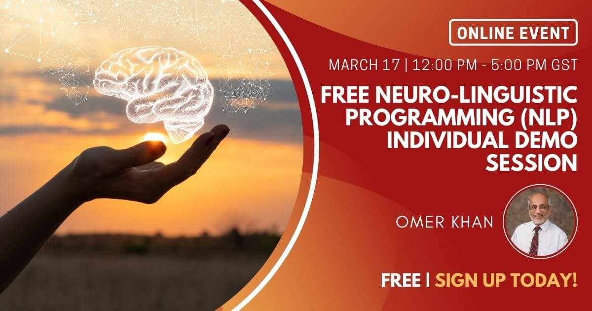 Free Neuro-Linguistic Programming (NLP) Individual Demo Session