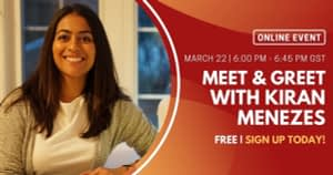 Meet & Greet with Kiran Menezes