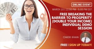 Free Breaking the barrier to prosperity (Double Your Income) Individual Demo Session