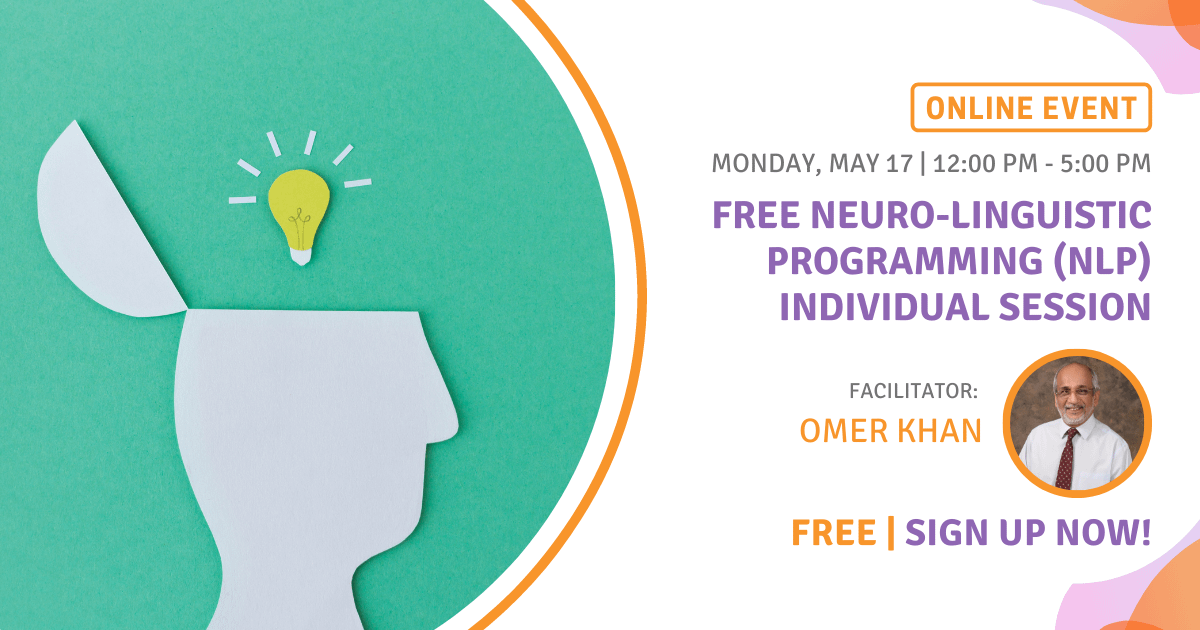 FREE Neuro-Linguistic Programming (NLP) Individual Session